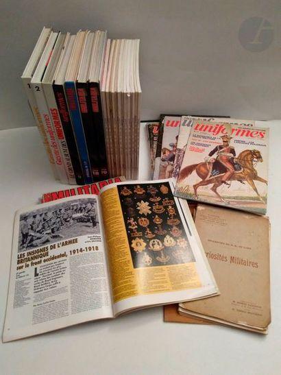 Revue MILITARIA – 6 revues et trois reliures...