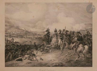 MOTTE, d'après - Bataille de Monthabor. 51 x 34 cm - Passage de Tagliamento. 36...