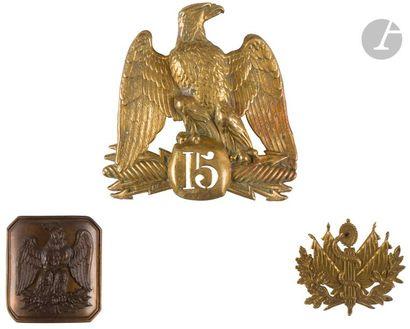 Plaque de shako à l'aigle modèle 1854 non...