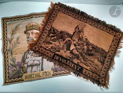 Quatre dessus de coussins: Le Maréchal Foch,...