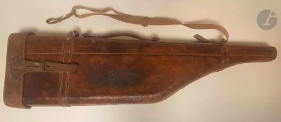 Étui jambon pour fusil de chasse. En cuir...