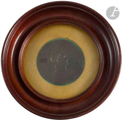 Ensemble de dix médailles commémoratives de l'époque napoléonienne, en bronze. Poinçon...