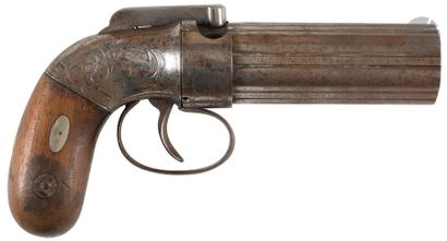 Revolver poivrière à percussion ALLEN & THURBER, calibre 31, double action. Bloc...