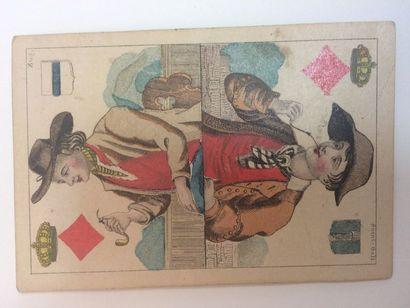 Jeu des cantons suisses : C.L. Wüst, milieu du XIXe s. ; 30 à dos roses + 11 cartes...