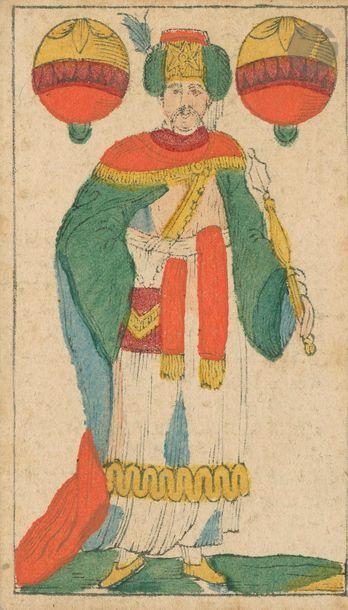Portrait fantaisie en pied : C.T. Sutor, Naumburg, c.1840 ; 31/32 cartes ; gravure...