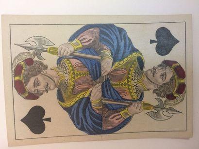 Portrait XP 1, « Grabuge » : Lattmann ?, c.1870 ; 52/52 cartes, toutes à pique,...