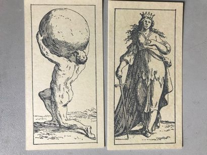 Trois fac-similés de tarots anciens : tarot...