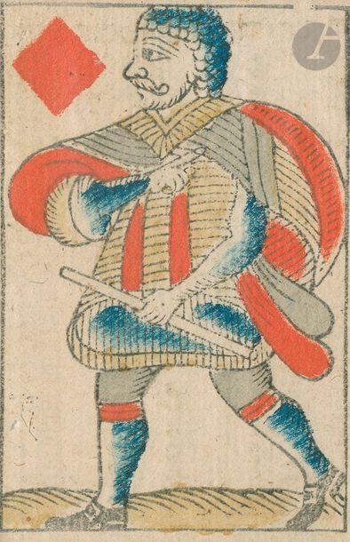 Deux cartes c.1800 : un VK au portrait du...