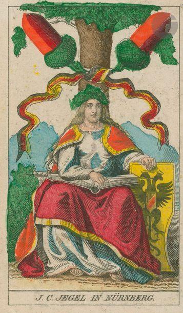 Jeu historique allemand (Deutsche Geschichtskarte)...