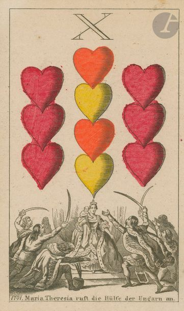 Jeu historique allemand (Deutsche Geschichtskarte) : J.C. Jegel, Nuremberg, 1872,...