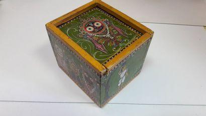 Mogul Ganjifa animalier : Inde (Orissa ?),...