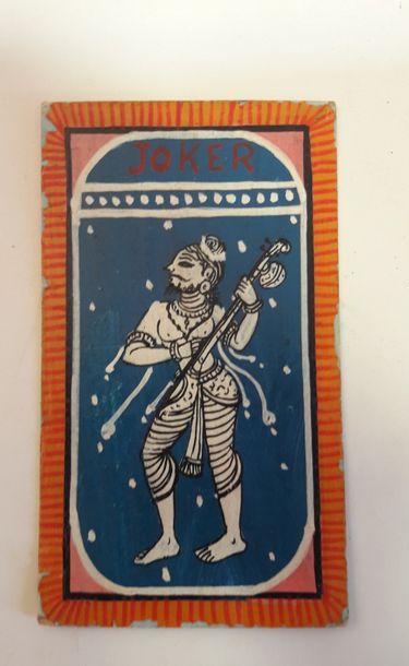 Shri Krishna Playing Cards: Radha (?), Inde,...