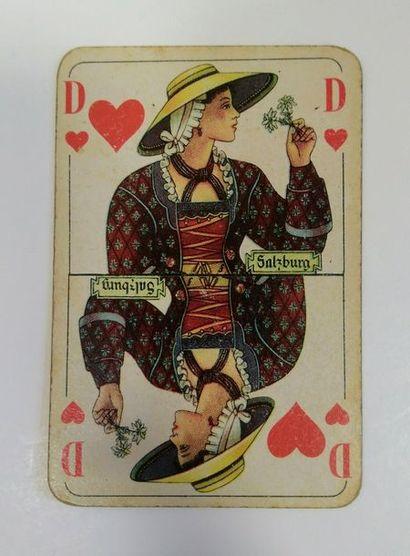 Portrait anglais, ASS, vers 1930/40, dos pin-up ! + Poker N° 24, p. anglais, Altenburger...