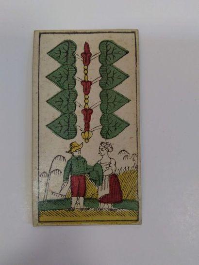 Jeu au portrait de Bavière : J.H. (Fetscher ?), Munich, vers 1820 ; 36/36 cartes,...