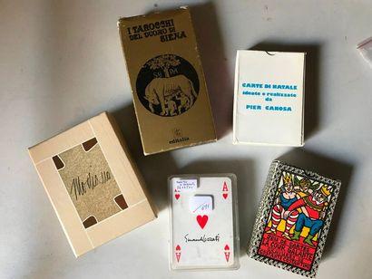 Cinq jeux d'artistes italiens : Carte di...