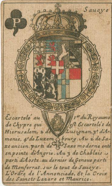 Jeu héraldique : Jeu d'armoiries des souverains...