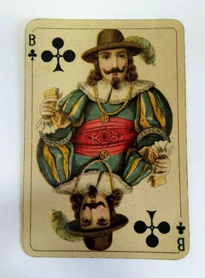 Club Karte, B. Dondorf, c.1900 ; 36/36 cartes ; coins ronds. BE.
