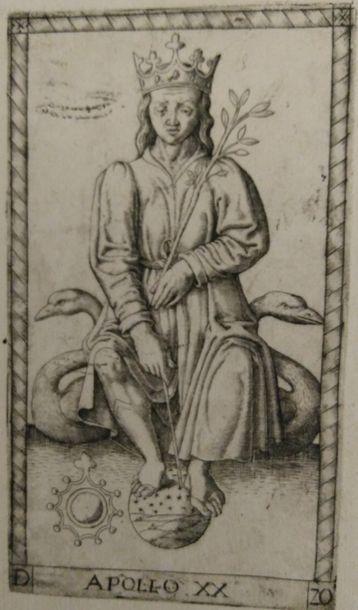 Deux cartes des « Tarots de Mantegna »,...