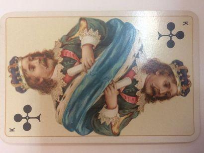 Piquet No 179, Dondorf, c.1895 ; 36/36 cartes ; étui ; dos médaillon avec jeune...