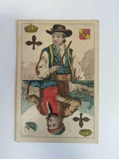 Cantons suisses : C.L. Wüst, Francfort, c.1880 ; 32/32 cartes ; as illustrés, coins...