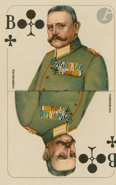 Reichs-Spielkarte Jeu all. de la Première guerre mondiale : Spiekartenfabrik Altenburg,...