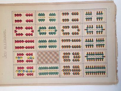 Jeu allemand 2 têtes : fab. non identif., Allemagne, fin du XIXe s. ; 32/32 cartes,...