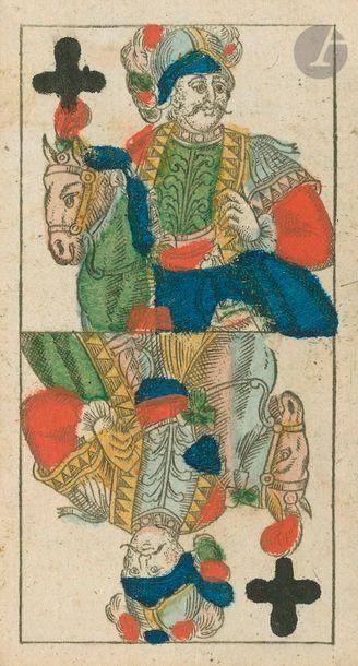 Tarot all. 2 têtes à coul. fr.: Mathäus...