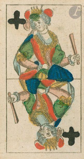 Tarot all. 2 têtes à coul. fr.: Mathäus Backofen, Munich, début XIXe ; 55/78 cartes...