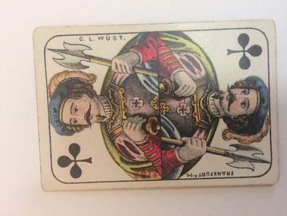 Patience XP 3 : C.L. Wüst, c.1870 ; 52/52 cartes ; coins carrés ; BE.