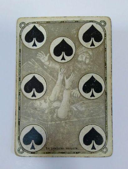 Jeu des Quatre continents : B. Dondorf, Francfort, c.1870 ; 52/52 cartes ; EM (tranches...