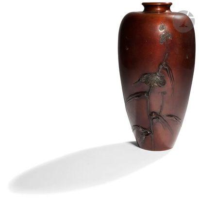 JAPON - Époque MEIJI (1868 - 1912) Vase en...