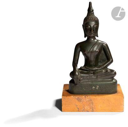 THAÏLANDE - Vers 1900 Statuette de bouddha...