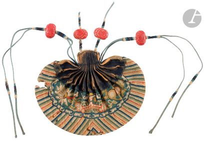CHINE - XIXe siècle Bourse hebao en soie...