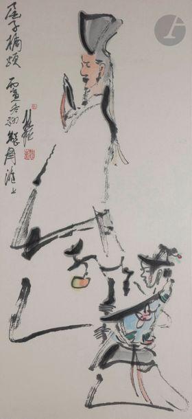 Zhang Guiming (1939 - 2014) Encre et couleurs...
