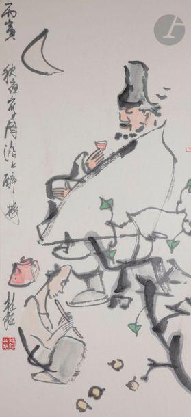 Zhang Guiming (1939 - 2014) Encre noire et...