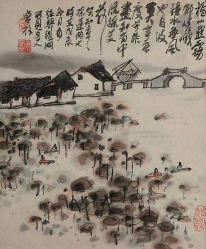 Jiang Baoling (1942 - ?) Encre noire sur...