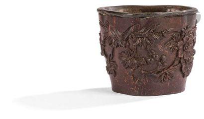CHINE - XVIIIe siècle Petite coupe libatoire...