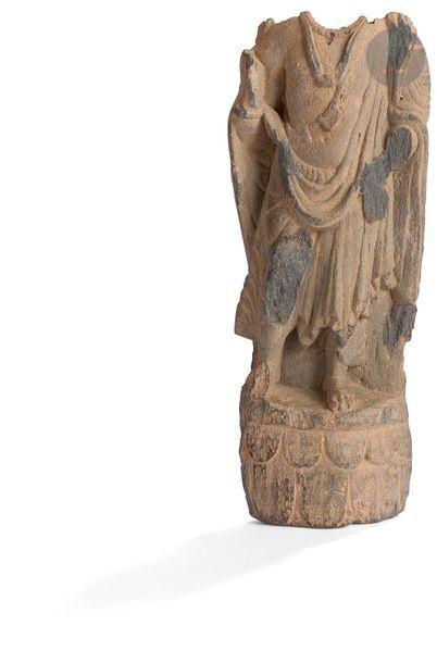 INDE - GANDHARA, art gréco-bouddhique, IIe...