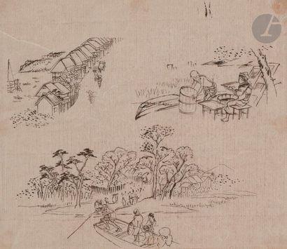Utagawa Hiroshige (1797 - 1858) Paysages...