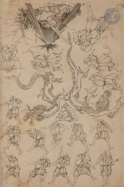 école d'Hokusai Plusieurs personnages en...