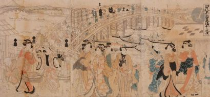 Shunsen Katsukawa (1762 - 1830) Triptyque...