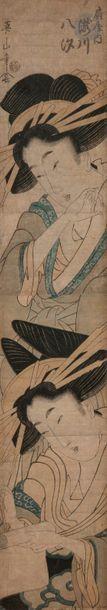 Kikukawa Eizan (1787 - 1867) Hashira-e, deux...