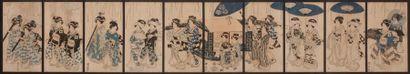 Utagawa Kuniyasu (1794 - 1832) Ensemble de...