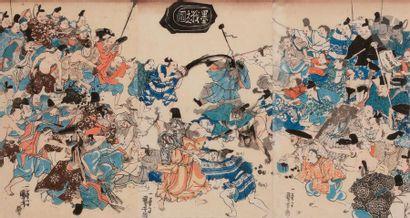 Kuniyoshi Utagawa (1798 - 1861) Triptyque...