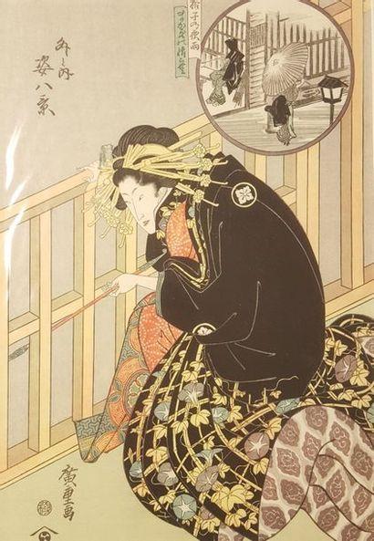 Ensemble d'environ cinquante oban yoko-e...