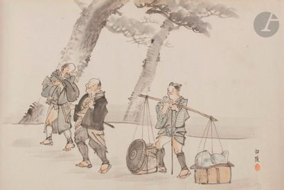 JAPON - Époque SHOWA (1926 - 1945) Encre...