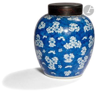 CHINE - XVIIIe siècle Pot à gingembre en...