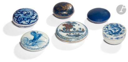CHINE - XIXe siècle Ensemble de six petites...