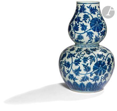 CHINE - Milieu XIXe siècle Vase double gourde...