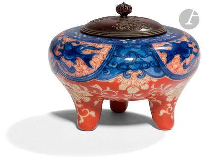 JAPON - Fin XIXe siècle Petit brûle-parfum...